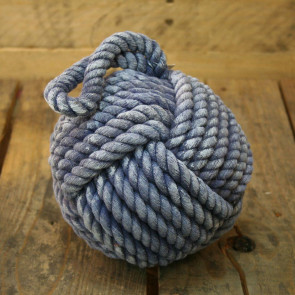 15Cm Coloured Nautical Rope Doorstop ~ Blue Rope Door Stop
