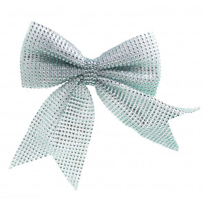 Large Ice Blue Bow Sequin Present Decoration - Christmas Tree Bows