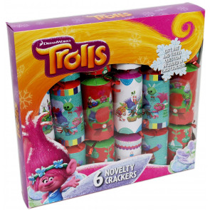 Box Of 6 DreamWorks Trolls Novelty Christmas Party Crackers