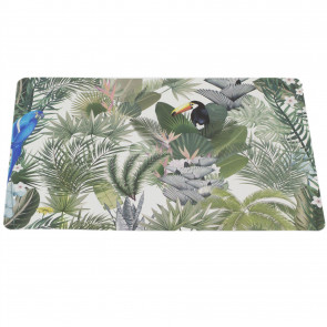 Jungle Animal Kitchen Dining Place Mat - Single Safari Placemat - Tropical Dinner Table Protection Mat - Toucan