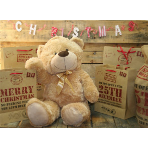 Extra Large 80Cm Super Cuddly Plush Giant Sitting Teddy Bear Soft Toy - Cookie