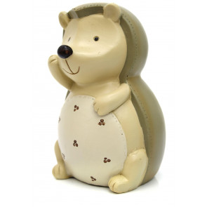 Adorable Children's Ceramic Hedgehog Novelty Money Box ~ Forest Animal Piggy Bank