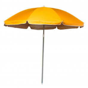 180cm Beach Umbrella Sun Shade UV50 Protection | Protective Beach Parasol | Holiday Travel Beach Umbrella - Orange