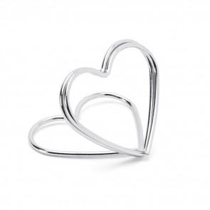 10 Piece Silver Wire Heart Place Card Holders   Wedding Table Card Holder Table Number Holders   Metal Name Card Stands