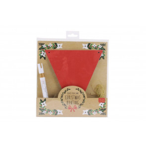 Create Your Own Christmas Bunting Craft Kit