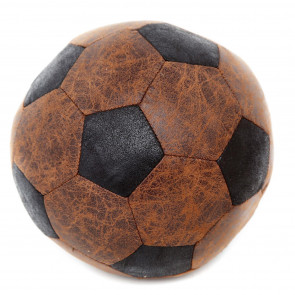 Distressed Leather Look Brown Black Football Style Novelty Decorative Doorstop
