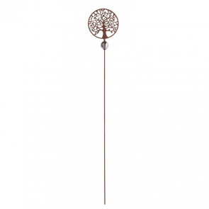 120cm Decorative Metal Tree Of Life Plant Stake | Rust Garden Stake Outdoor Sculpture Decoration | Garden Stake Ornament Flower Canes