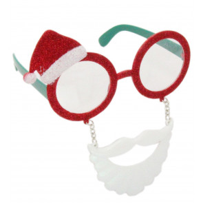 Novelty Christmas Party Fun Festive Fancy Dress Glasses - Santa