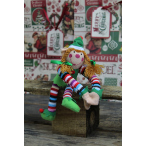 Plush Christmas Elf Soft Toy ~ Girls Design Vary