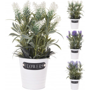 Beautiful Floral Spray Artificial Plant With Decorative Planter Pot ~ Design Varies