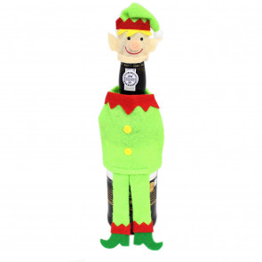 Felt Fabric Novelty Christmas Wine Bottle Cover Table Decoration - Elf