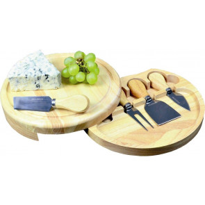 Occasion Round Slide Out Cheese Board With Cheese Knifes