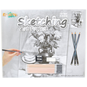 Kreative Sketching Pencil Art Project Drawing Set ~ Flowers
