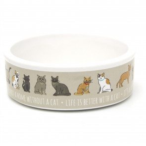 Ceramic Cat Bowl | 12cm Cat Feeding Bowl Water Dish - Food Bowl for Cats and Kitten