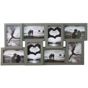 8 Multi Tonal Plastic Photo Frame ~ Dark Grey
