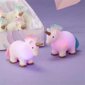 Light Up Flashing Unicorn Squeezie Squishy Stress Reliever Squeeze Toy - Colour Varies
