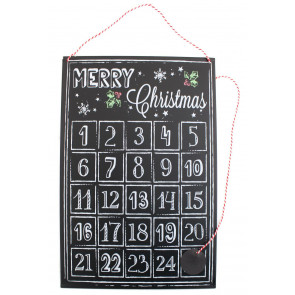Magnetic Tin Advent Plaque Sign Countdown Days Til Christmas Perpetual Calendar