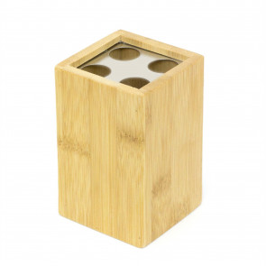 Bamboo Toothbrush Holder Bathroom Caddy   Wooden Eco Friendly Toothbrush Pot   Bathroom Storage Cup