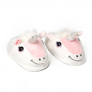 Soft Plush Happy Unicorn Children's Slippers Size 8 ~ Large