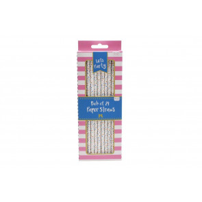 Pack Of 24 Star Party Paper Straws