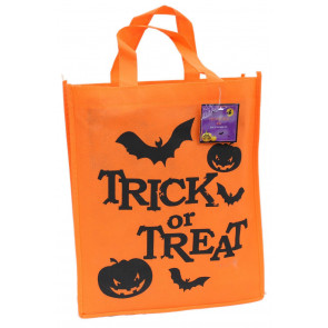 Halloween Felt Fabric Trick Or Treat Sweet Candy Bag ~ Orange Trick Or Treat