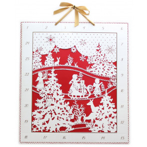 Deluxe Traditional Card Advent Calendar Large - Laser Cut Woodland Silhouette