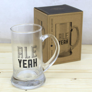 Men's Best Friend Beer Stein Glass Pint Tankard Mug ~ Ale Yeah