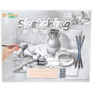 Kreative Sketching Pencil Art Project Drawing Set ~ Pottery Jug