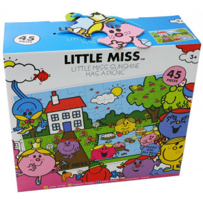 Little Miss 45 Piece Floor Puzzle - Little Miss Sunshine Has A Picnic