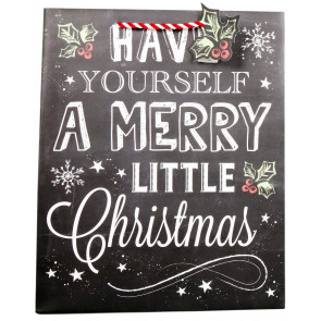 Large Chalkboard Style Christmas Present Gift Bag ~ Merry