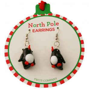 Decked Out Holiday Pierced Earrings ~ Christmas Snowman Drop Earrings