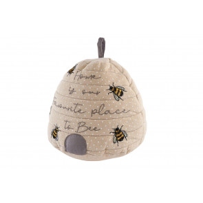 Beehive Fabric Doorstop - Honey Bee Doorstopper - Novelty Bumblebee Door Stop
