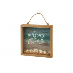 Nautical Wooden Welcome To The Beach 3d Picture ~ Box Frame Decoration