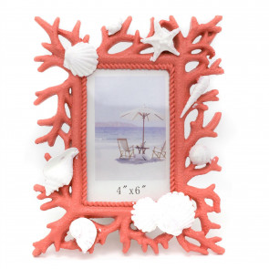 Resin Coral Reef Nautical Picture Frame 23cm Freestanding Single 4 x 6 Aperture Photo Holder