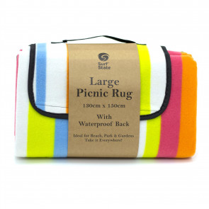 Large Folding Fleece Picnic Blanket With Handle | Family Outdoor Picnic Blanket Waterproof Mat | Foldable Beach Blanket