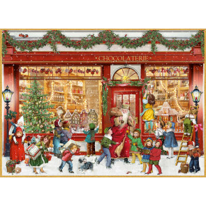 Deluxe Traditional A4 Christmas Advent Calendar - The Chocolate Shop