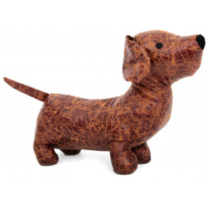 Charming Dachshund Puppy Sausage Dog Doorstop - Novelty Animal Door Stop
