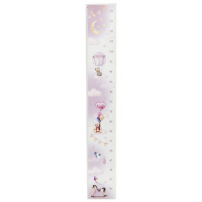 Children's Measuring Growth Height Chart For Bedroom Nursery Playroom - Pink