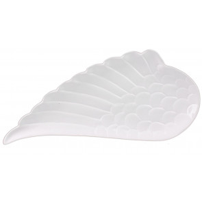Ceramic Angel Wing Jewellery Trinket Dish - Mini Canape Serving Platter