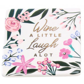 Beautiful Ceramic Floral Drinks Coaster Cup Mug Table Mat ~ Wine
