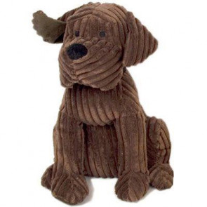 Take Me Home Door Stop - 28Cm Ribbed Chocolate Dog Doorstop