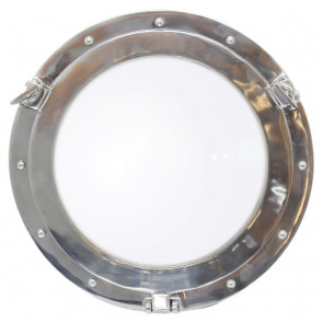 40cm Round Ship Porthole Aluminum Decorative Hanging Glass Mirror