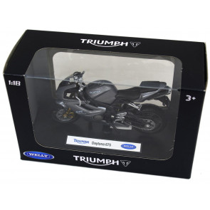 Welly Diecast Officially Licenced 1:18 Scale Motorbike Model ~ Triumph Daytona 675