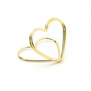 10 Piece Gold Wire Heart Place Card Holders   Wedding Table Card Holder Table Number Holders   Metal Name Card Stands