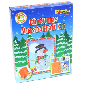 Christmas Snowman Gem Picture Mosaic Art Craft Kit