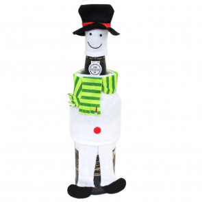 Felt Fabric Novelty Christmas Wine Bottle Cover Table Decoration - Snowman