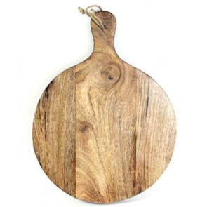 40cm x 30cm Round Wooden Chopping Board With Handle