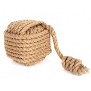 15cm Nautical Square Monkey's Fist Rope Doorstop ~ Natural Rope Door Stop