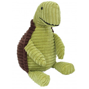 Ribbed Chunky Cord Sitting Turtle Doorstop - Green and Brown Tortoise Door Stop
