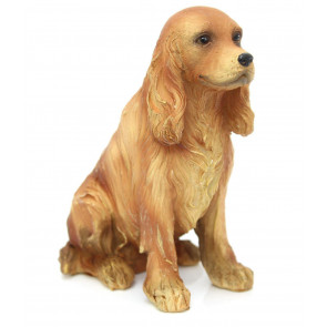 Charming Dog Figurine Statue Ornament ~ Resin Sculpture Animal Decoration ~ Spaniel Dog
